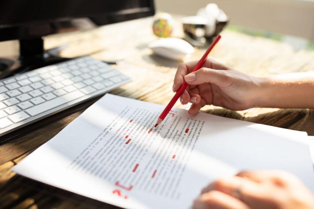 Tekstcorrectie en redactie